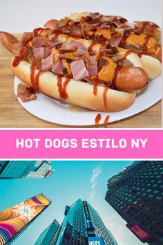 Cómo preparar los mejores perritos calientes al estilo NY. Con cebolla caramelizada, beicon crujiente y una salsa especial ¡Hot dogs completos muy fáciles y sabrosos!