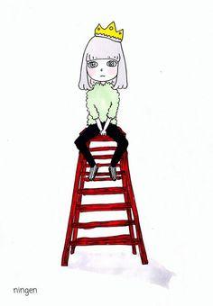 「おしゃれすぎるningenさんのイラストの女の子♡ファッションを真似っこしてningen worldへ。」に含まれるツイート画像 MERY [メリー]