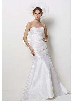 Elegant Exquisite Taffeta Mermaid Strapless Neckline Wedding Dress W1926 $316.79