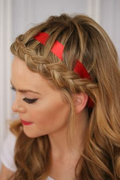 Use this tutorial to add a ribbon to your hairdo.