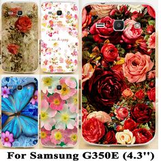 1.68$  Buy here - Soft TPU Hard plastic Flower cases For Samsung Galaxy Star Advance G350E 4.3 inch Galaxy Star 2 Plus SM-G350E Cases Cover Shell   #SHOPPING