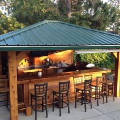 48 Ideas Backyard Kitchen And Pool Bar Ideas For 2019 Outdoor Kitchen Countertops, Outdoor Kitchen Bars, Backyard Kitchen, Outdoor Kitchen Design, Patio Design, Outdoor Kitchens, Outdoor Bars, Summer Kitchen, Grill Design