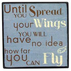take flight...