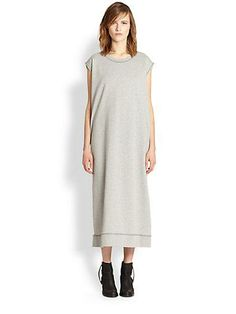 saks acne atlas long fleece dress.- This is one of the ugliest things I've ever seen on pinterest. It looks like a mental hospital gown. And I'm sure it costs hundreds of dollars....THAT'S the funny thing!