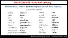 Angielskie Słówka dla Początkujących (Człowiek i Rodzina) - Darmowa Lekcja MP3 Lekcja ta pochodzi z kursu: http://szybkanauka24.pl/angielski-mp3-dla-poczatkujacych-kurs-podstawowy/ Tagi: #angielski, #angielskionline, #angielskimp3, #slowka #angielskionlinetv