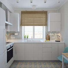 Квартира для молодой девушки : Кухня в скандинавском стиле от Ekaterina Donde Design