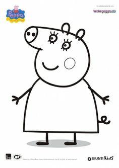 disegno di Mamma Pig da colorare