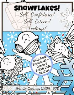 Here's just one of our winter-themed resources for self-esteem and self-confidence! Help kids cope with feelings, so they can be more successful in life!
