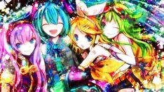 Vocaloid - Megurine Luka, Hatsune Miku, Kagamine Rin and Gumi