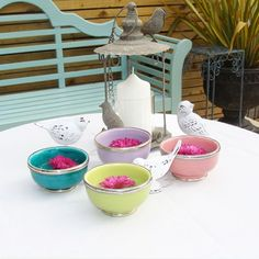 Moroccan Bowls from Mia Fleur - what to 'wear' with ice cream!