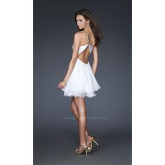 Short One Shoulder Prom Dress by La Femme ($179) via Polyvore