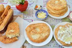 Langoși ungurești rețeta tradițională pas cu pas | Savori Urbane Cornbread, Quiche, Hamburger, Deserts, Pizza, Cooking Recipes, Urban, Ethnic Recipes, Food