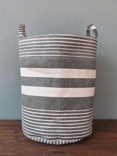 sewing inspiration- canvas buckets for storage
