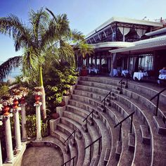 Anfiteatro Restaurant overlooking the Pacific Ocean at Villa Caletas, Costa Rica  #GoGoCostaRicaWeek