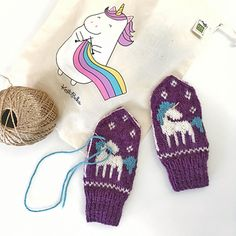 Ravelry: Be a Unicorn Mittens pattern by Tonje Haugli Knitted Mittens Pattern, Knit Mittens, Knitting Patterns, Crotchet, Knit Crochet, Knitting Projects, Knits, Ravelry, Unicorn