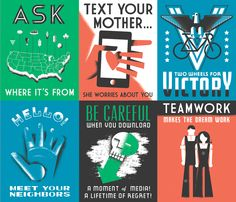 GOOD Magazine WPA Posters - DAN CASSARO - YOUNG JERKS - Design/Animation/Illustration