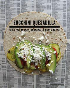 Zucchini Quesadilla // take a megabite          Vegan with cheese substitution.