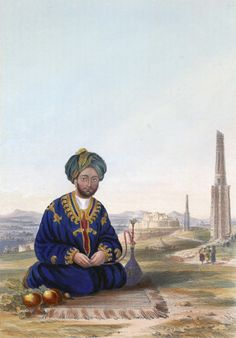 """Ghulam Hyder Khan of Ghazni defender of Ghazni during """"The Battle of Ghazni"""" (or Ghuznee in colonial English) which took place in city of Ghazni in central Afghanistan on July 23, 1839 during the First Anglo-Afghan War. Shuja Shah Durrani, Sir Harry Fane and Sir John Keane led the attack. The invasion route had to be through the southern passes, with the approach to Kabul via Kandahar and Ghazni because Punjab was ruled by Ranjit Singh who refused to let the British thru his land."""
