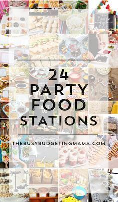 24 party food stations | donut bar, cupcake bar, ice cream bar, popcorn bar, walking taco bar, nacho bar, candy apple bar + more!
