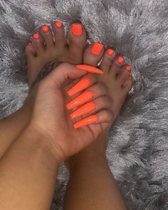 More Pins (ig: Orange Toe Nails, Neon Toe Nails, Glitter Toe Nails, Acrylic Toe Nails, Colored Acrylic Nails, Drip Nails, Aycrlic Nails, Cute Simple Nails, Pretty Toe Nails