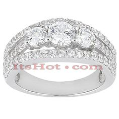 This 14K Gold Unique Diamond Engagement Ring weighs approximately 5.5 grams and showcases a 0.15 carat round diamond in the center and 0.70 carats of round diamonds on the sides for a total of 0.85 carat of dazzling diamonds and is available in Platinum, 18k or 14k yellow, rose, white gold, various sizes, and can be customized with any color and quality diamonds. Center diamond can be from 0.15ct to 1ct (gold weight and number of stones may vary). Please note: it will take us 3-5 business…