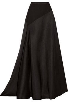 Lanvin Jersey-paneled wool and silk-blend maxi skirt | NET-A-PORTER