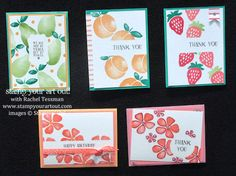 What's New?! Fresh Fruit stamp set… #stampyourartout #stampinup - Stampin' Up!® - Stamp Your Art Out! www.stampyourartout.com