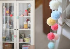 Inspiring Pastel Home from CafeNoHut - pom pom garland