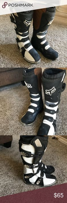Fox Racing Tracker Dirt Bike/Quad Riding Boots Only worn three times and still in perfect condition. Fox Shoes Combat & Moto Boots