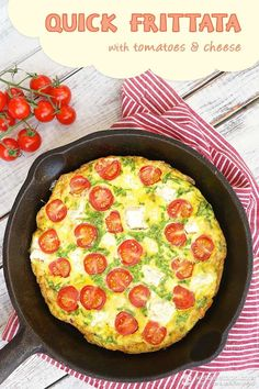 Quick Frittata with Tomatoes & Cheese (low-carb, primal, keto)