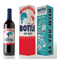 The Bottle of Wits (Princess Bride inspired wine. Also available: As You Wish White and Inconceivable Cab)