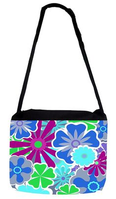 Rosie Parker Inc. TM Medium Sized Messenger Bag 11.75' x 15.5' and 5' x 8' Pencil Case SET - Flower Power ** To view further for this item, visit the image link.