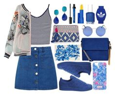 Blue Streak by ssyifaya on Polyvore featuring polyvore fashion style Topshop Miss Selfridge adidas New Look Oasis Kenneth Jay Lane Lilly Pulitzer Estée Lauder Essie clothing