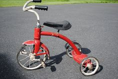 vintage red tricycle on Craigslist  central NJ