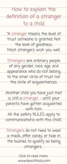 Dont Teach Stranger Danger