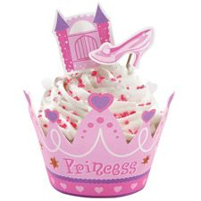 This Princess Cupcake Collar Wraps n Pix Set is a cute way to decorate cupcakes. These will look great on a Princess Birthday Themed party table. Princess Party Cupcakes, Princess Party Decorations, Cupcake Party, Cupcake Birthday, Cake Decorations, Daisy Cakes, Cake Supplies, Cake Decorating Supplies, Party Supplies