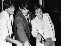 Rob Lowe, Tom Cruise, and Emilio Estevez (The Outsiders) Tom Cruise, Katie Holmes, Top Gun, Nicole Kidman, Rain Man, The Outsiders Cast, Movie Stars, Movie Tv, Emilio Estevez