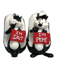 Take a look at this Pepé Le Pew & Penelope Salt & Pepper Shakers by Westland Giftware on #zulily today!