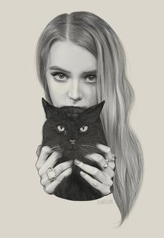 A#girl#with#cat