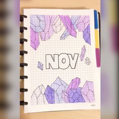 Starting November with this purple crystals theme. Recreation from @amandarachdoodles