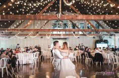 Insanely GORGEOUS all white and gold barn wedding 10 min from Salem, Oregon. Green Villa Barn & Gardens. Delicate and simple with hydrangeas and twinkle light backdrop.
