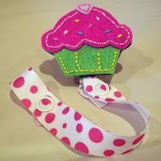 Cupcake pacifier clip.