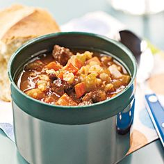 Barley and Beef Soup | MyRecipes.com #MyPlate #protein #grain #vegetable