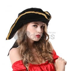 Halloween Accessories Cosplay Black Pirate Hat, it is cute especially in your daughter'd head.