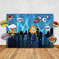 Fun, easy, inexpensive: Superhero Cityscape Photography Backdrop and Studio Props DIY Kit. Great as Super Hero City Photo Booth Background – Birthday Party and Event Decorations: Kitchen & Dining Batman Party Favors, Superhero Theme Party, Superhero Classroom, Superhero Party Activities, Superhero Bulletin Boards, Superhero Halloween, Classroom Decor, Spider Man Party, Avenger Party