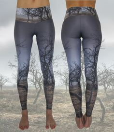 Eco-Friendly Handmade Yoga Leggings • Recycled Polyamide • Digital Printed • Yoga pants • Eco-Conscious • Unique • Nature • Landscape