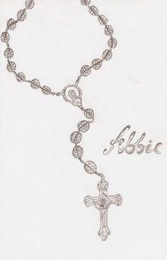 Rosary beads Tattoo Design by Cupcake-Lakai on DeviantArt Rosary Tattoo Wrist, Rosary Foot Tattoos, Rosary Bead Tattoo, Rosary Beads, Necklace Tattoo, Cross Tattoos, Skull Tattoos, Hand Tattoos, Girl Tattoos