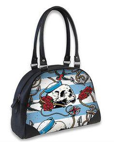 Liquor Brand Traditional Tattooed Mermaid Canvas Purse Tote Bag LB-TOB-00107