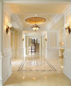 Stunning, Love The Colors, Marble And Borders, Wainscoting And Trim Details  Walls And Lighting,