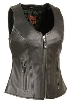 788591d8 Milwaukee Women's Zipper Vest with Stitch Detailing. Female Motorcycle  RidersMotorcycle PatchesMotorcycle Leather VestBlack ...